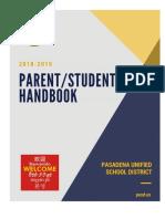 PUSD 2018-2019 Parent Student Handbook