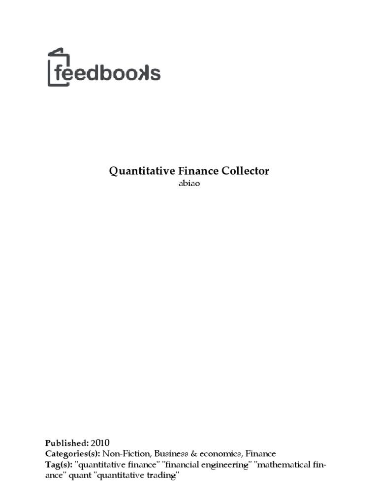 Quantitative finance collector mathematical finance 64 bit computing fandeluxe Images