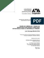 MONTIEL O., Luis G. Teoría de Umbrales y Redes de Infrestructura Basica