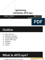 Recon2015 20 Steven Vittitoe Reverse Engineering Windows AFD Sys