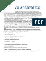 Ensayo Académico Luis
