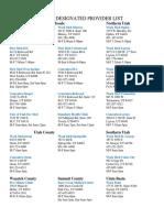 utah designated provider list 8 16 17