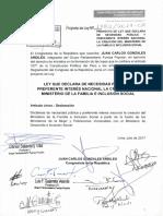 Proyecto de Ley N° 1782/2017-CR