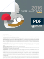 WHO Malaria Report 2016 Summary