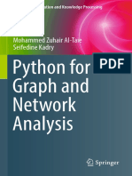 Pthon for Graph and Network analysis
