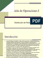 GESTION DE  OPERACIONES ( DISEÑO DE PLANTAS)