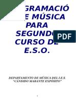 Programacion de Musica Para 2o Eso 2014 2015