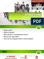 Gender and Development Report 2017