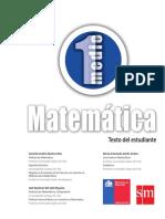 Texto Del Estudiante Matemática Primero Medio Antiguo