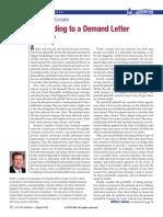 Responding a Demand Letter