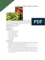 Receta de Tallarines Verdes Con Bistec Apanado