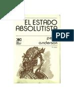 Perry-Anderson. Absolitismo Cap1. 1