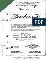 Be 76 Duchess Handbuch