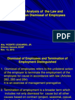 Employees Dismissal Law and Doctrines