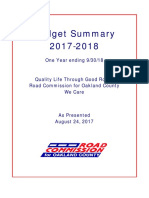 Road Commission for Oakland County 2018 Budget