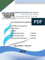 FISICA OPTICA Y MAGNETISMO Informe 9.- Fuerza Eletromagnetica