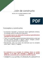Tema 5 b Definición de Constructo Construccion de Pruebas Psicologicas