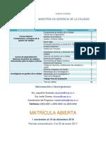 Plan Estudios MSC Gerencia Calidad