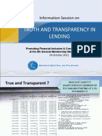 Truth and Transparency in Lending