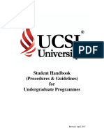 UCSI  2017 Student Handbook 2017
