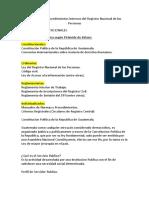 Normativa y Procedimientos Internos Del Registro Nacional de Las Personas
