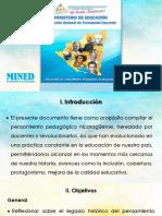 Evolución Del Pensamiento Pedagógico en Nic. Final