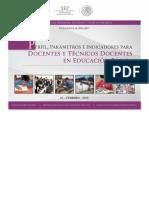 Perfil de Parametros e Indicadores Para Docentes y Técnicos Docentes