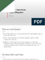 native american land disputes