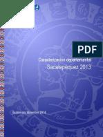 Caracterizacion Departamental Sacatepequez 2013