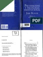 BLEGER-Cap 2 Psicología Institucional