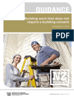Building Work Consent Not Required Guidance