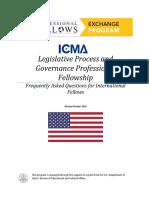 FAQ Legislative Professional Fellows Program 2017