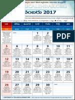 Andhrapradesh Telugu Calendar 2017 November