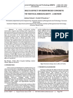 Influence of P-Delta effect on reinforced concrete buildings with vertical irregularity - A Review