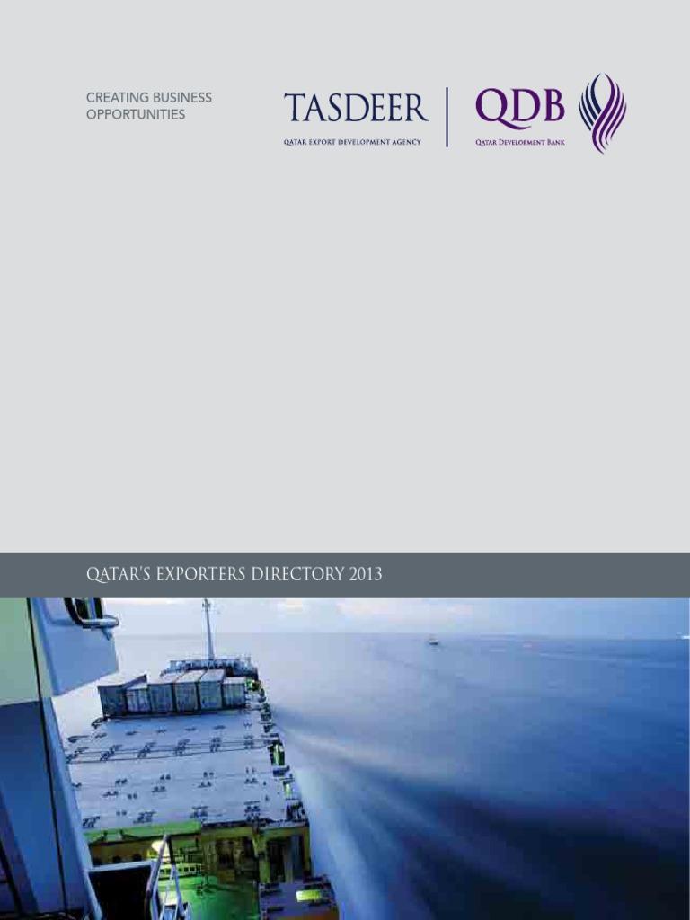 Tasdeer Exporters Directory 2013-English pdf | Qatar | Plastic