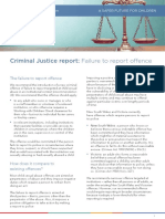 Factsheet Criminal Justice Report Failure to Report Offence