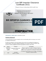 How to Secure BIR Importer Clearance Certificate