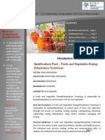 Fruits and Vegetables Drying or Dehydration Technician