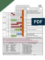 Academic Calendar Even Sem2017-18