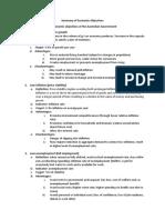 Summary - Economic Objectives