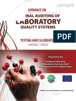Internal Auditing of Laboratory Quality Management Systems