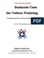 The Business Case for Values Training a Special Report From Values Coach1