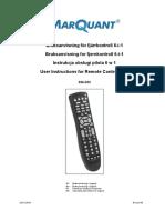 MarQuant 926-033 Remote Control