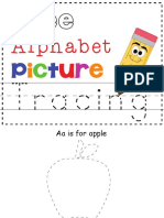 Free_Alphabet Picture Tracing