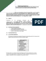 TDR PARA CALCULO ESTRUCTURAL EDIFICACIONES