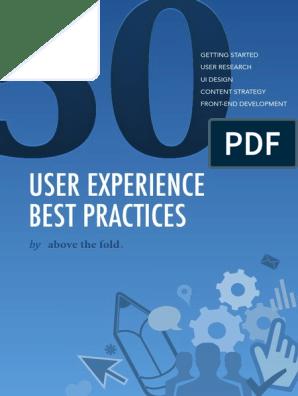 50 Ux Best Practices Pdf