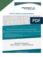 1Z0-821 Oracle database deployment Exam Dumps