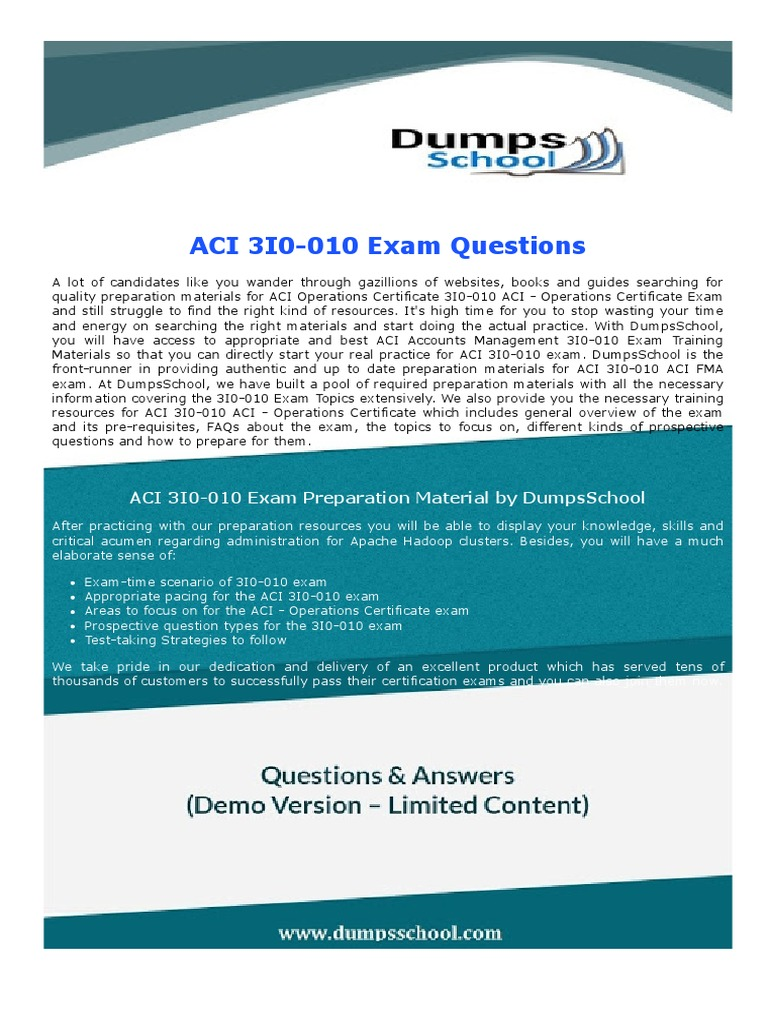 aci operations certificate 3i0 010 exam dumps test assessment rh es scribd com Certificate Request for Letter Study Karnataka CET Study Certificate For