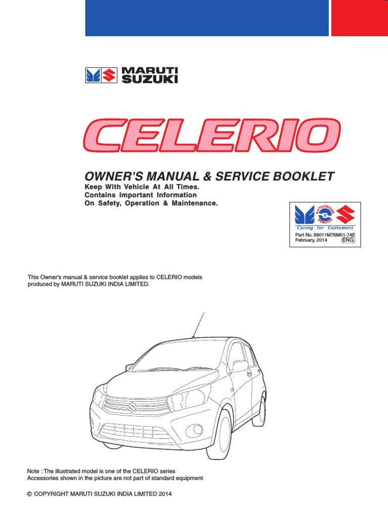 celerio owner s manual pdf brake clutch rh scribd com maruti suzuki omni service manual maruti omni owner manual