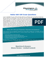 Nokia Networking Nokia Triple Play Services 4A0-109 Exam Dumps